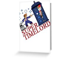 Super TimeLord Greeting Card