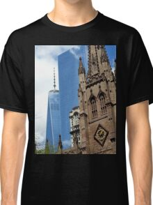 One World Trade Center and Trinity Church, NYC Classic T-Shirt