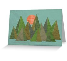 Crumpled Mountains  Greeting Card