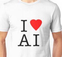 I Love (Heart) Ai Artificial intelligence  Ny parody Unisex T-Shirt
