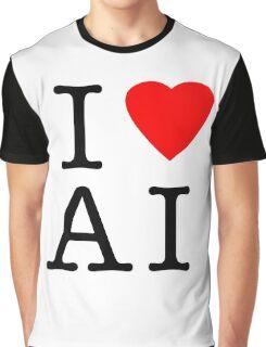 I Love (Heart) Ai Artificial intelligence  Ny parody Graphic T-Shirt