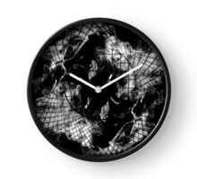 Natural Abstract 6 (Monochrome variant) Clock