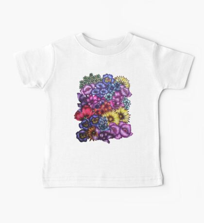 A Field of Flowers Baby Tee