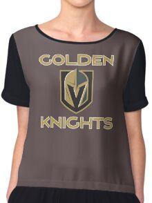 A Golden Vegas Sports Shirt Knight Emblem Tshirt Chiffon Top
