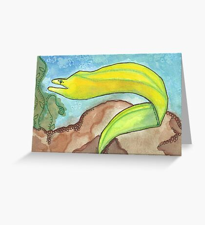Eel Starts with E Greeting Card