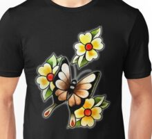 Butterfly & Flowers Unisex T-Shirt