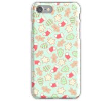 Christmas Cookies Pattern Design (Mint) iPhone Case/Skin