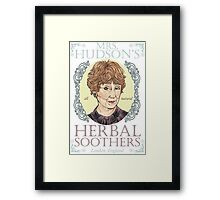 Mrs. Hudson's Herbal Soothers Framed Print