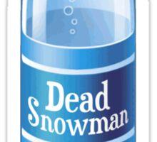 Dead Snowman Melted Bottled Water Sticker