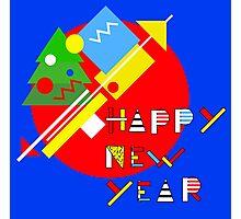 Geometric 2017 Happy New Year Photographic Print