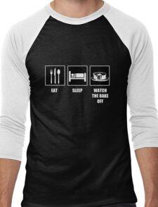 Eat Sleep Watch The Bake Off Men's Baseball ¾ T-Shirt