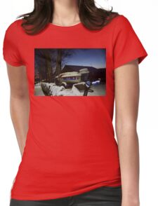 Speedboat In the Snow Womens Fitted T-Shirt