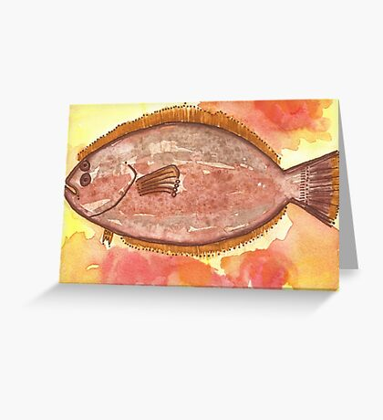 Flounder Starts with F Greeting Card