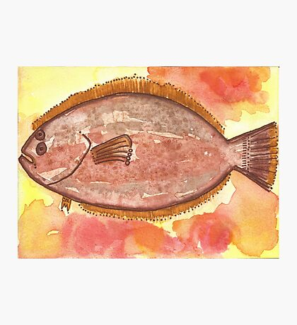 Flounder Starts with F Photographic Print