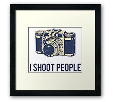 I Shoot People Photography Camera Framed Print