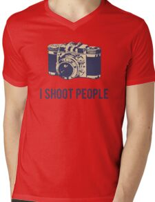 I Shoot People Photography Camera Mens V-Neck T-Shirt