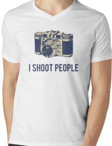 I Shoot People Photography Camera Mens V-Neck T-Shirt