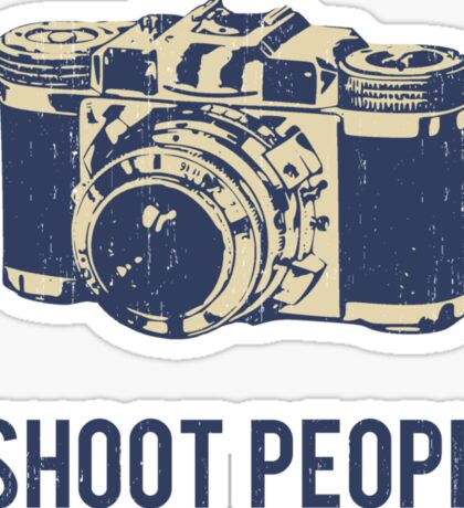I Shoot People Photography Camera Sticker