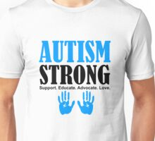 Autism Strong Support black Unisex T-Shirt