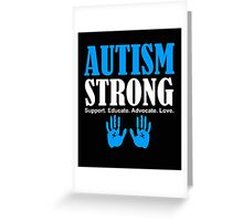 Autism Strong Support white Greeting Card
