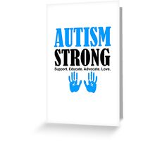 Autism Strong Support black Greeting Card