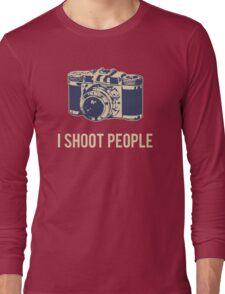 I Shoot People Photography Camera Long Sleeve T-Shirt