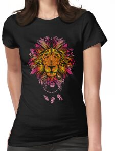 WARM LION MANDALA Womens Fitted T-Shirt