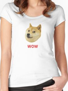 Doge Very Wow Much Dog Such Shiba Shibe Inu Women's Fitted Scoop T-Shirt