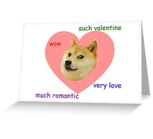Doge Much Valentines Day Very Love Such Romantic Greeting Card