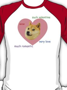 Doge Much Valentines Day Very Love Such Romantic T-Shirt