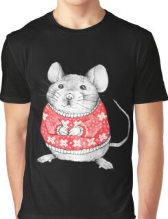 A Festive Mouse Graphic T-Shirt