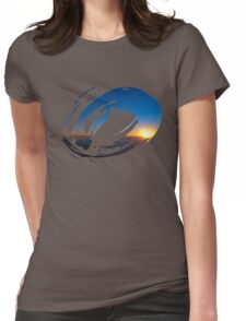 Brush Surfer Womens Fitted T-Shirt