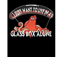 Live In A Glass Box Octopus Cartoon Movie Film Gift Photographic Print