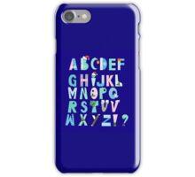 Winter Creative Alphabet iPhone Case/Skin