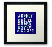 Winter Creative Alphabet Framed Print