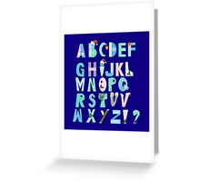 Winter Creative Alphabet Greeting Card