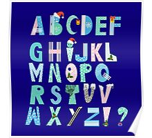 Winter Creative Alphabet Poster