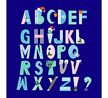 Winter Creative Alphabet Photographic Print