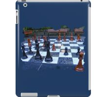 GIANT OUTDOOR CHESS BOARD GAME iPad Case/Skin