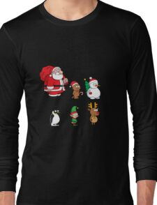 Christmas Squad Santa Snowman Penguin Cookie Reindeer Gift Long Sleeve T-Shirt