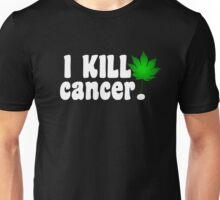 I Kill Cancer white Unisex T-Shirt