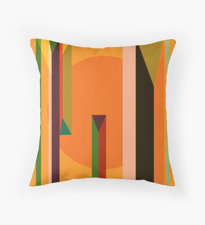 Abstract dynamic background Throw Pillow