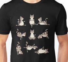 Funny Yoga Cat Position Meditation Relax Hatha Basic T-Shirt Unisex T-Shirt