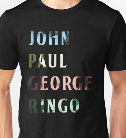 The Beatles Color Names Unisex T-Shirt