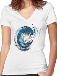 Brush Milky Way Women's Fitted V-Neck T-Shirt