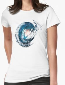 Brush Milky Way Womens Fitted T-Shirt