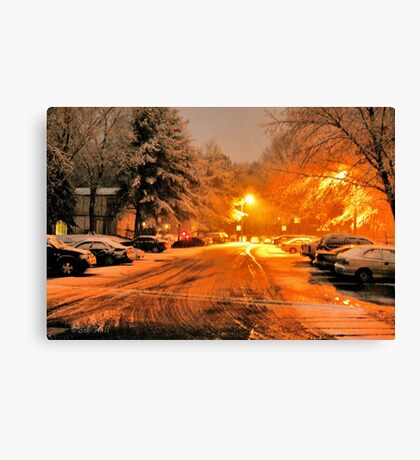"'""A Snowy Evening in Knoxville' (a series, no.1)""... prints and products Canvas Print"