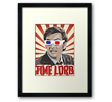 Time Lord With 3D Glasses Framed Print
