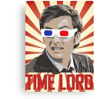 Time Lord With 3D Glasses Canvas Print