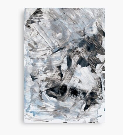 Gray and blue abstract hand painted background. Canvas Print